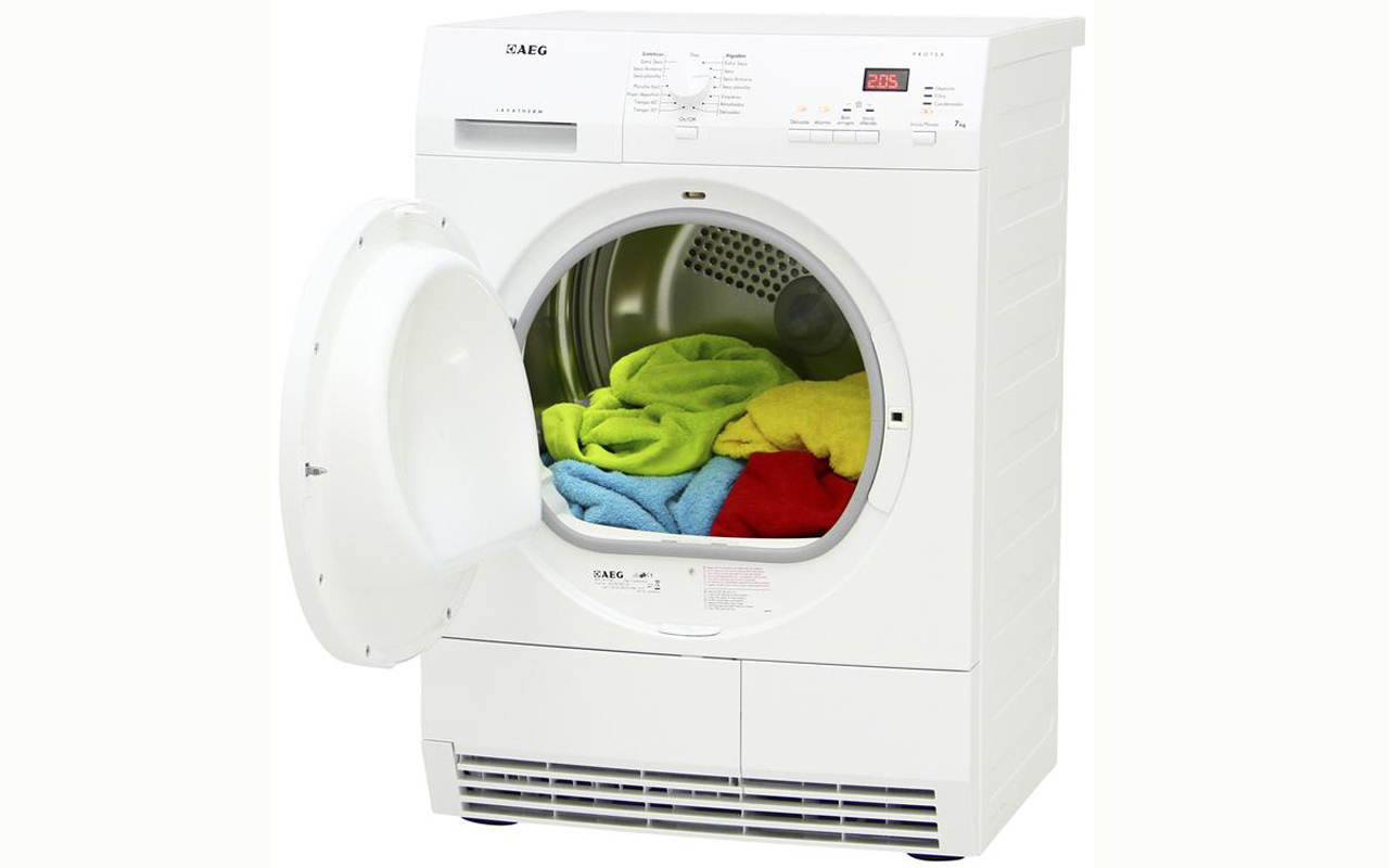 aeg 61270 ac kondenstrockner 7 kg knitterschutz led trockner lavatherm ebay. Black Bedroom Furniture Sets. Home Design Ideas