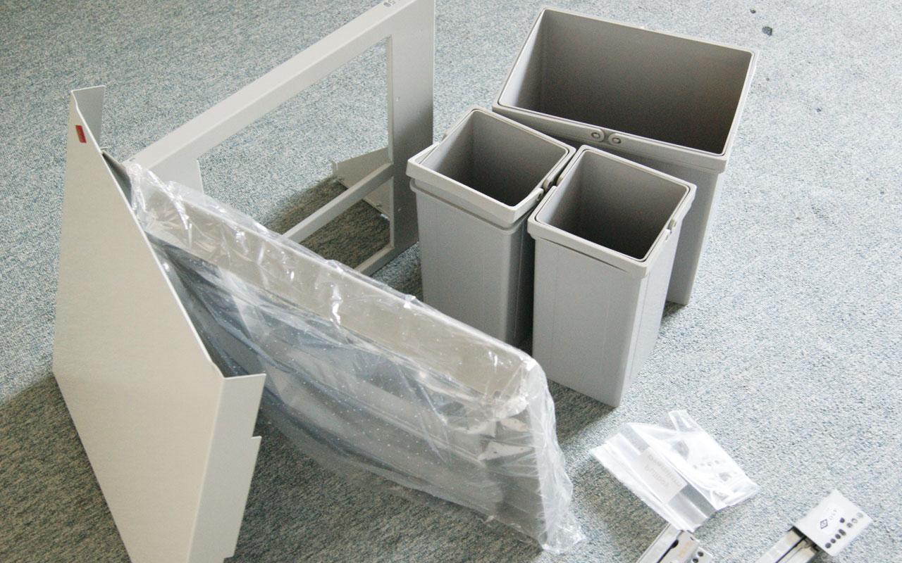 wesco einbau abfallsammler orig 219 17 2x5 liter. Black Bedroom Furniture Sets. Home Design Ideas