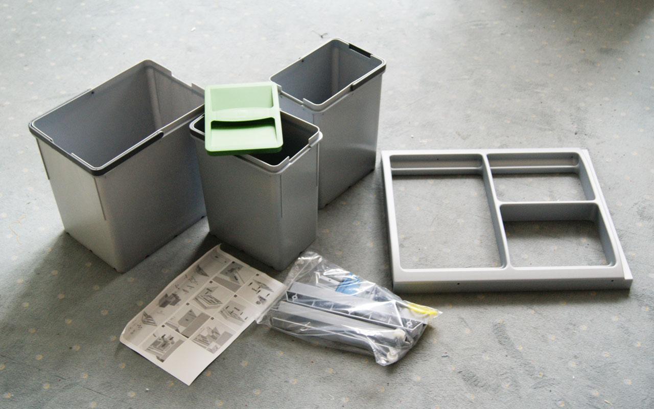 45cm küchenhelfer einbau abfallsammler abfalleimer für ... - Küche Abfallsammler