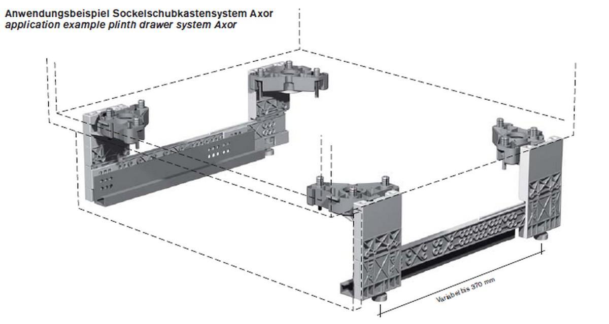 k che sockel schubkasten l r 35 100 130 mm h he sockel schublade ebay. Black Bedroom Furniture Sets. Home Design Ideas