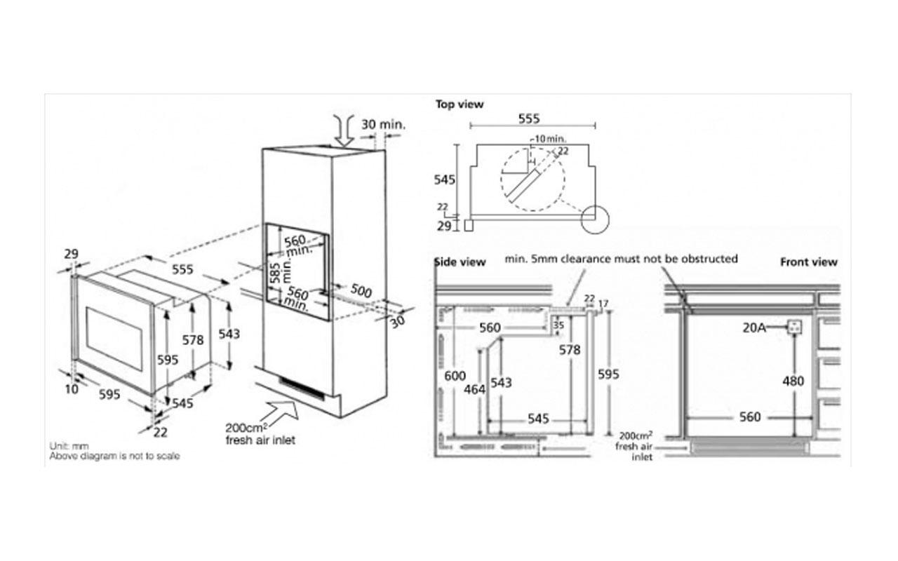 einbau backofen orig touch bauknecht bltc 8100 es l grifflose k che ebay. Black Bedroom Furniture Sets. Home Design Ideas