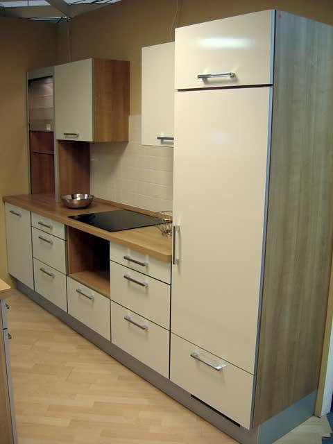 nolte k chenzeile insel front glatt perlmutt gl nzend theke viele ausz ge neu ebay. Black Bedroom Furniture Sets. Home Design Ideas