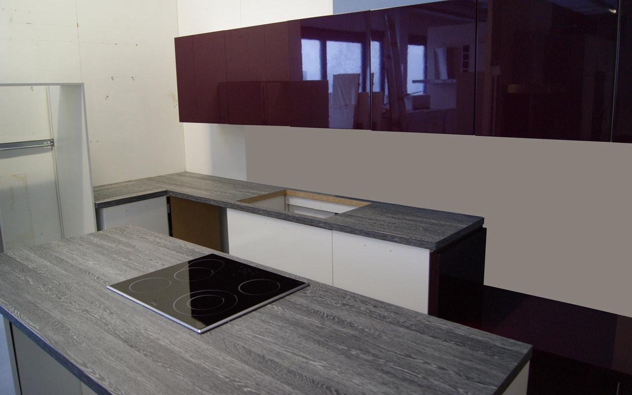 alno wellmann l k che mit insel sitzbank orig 18020 calla wei mit e ger te ebay. Black Bedroom Furniture Sets. Home Design Ideas