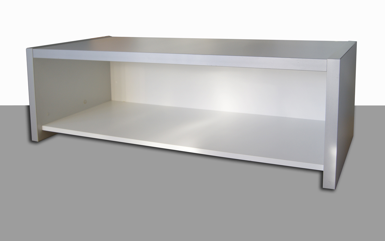 theke mit sideboard orig 1299 offen lichtgrau weiss 1250 x 505 x 400 ohne glas. Black Bedroom Furniture Sets. Home Design Ideas