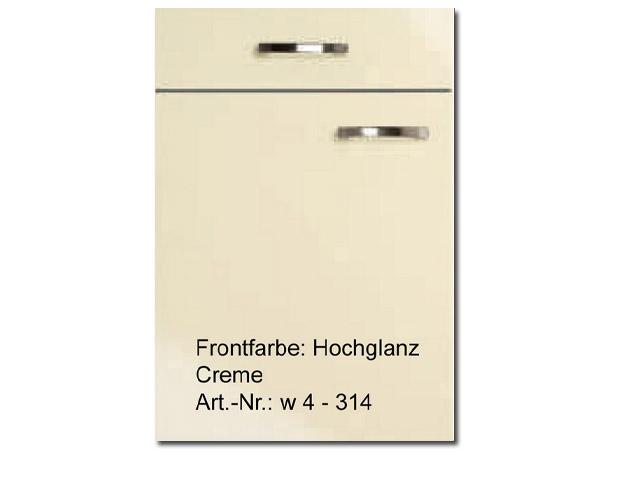 ... zu L-Küche Wellman ALNO Creme, Hochglanz Softclosing Halbrondell