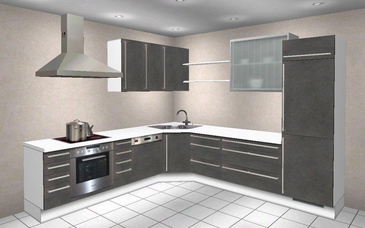 240 x 270 cm hochschrank l k che wellmann alno. Black Bedroom Furniture Sets. Home Design Ideas