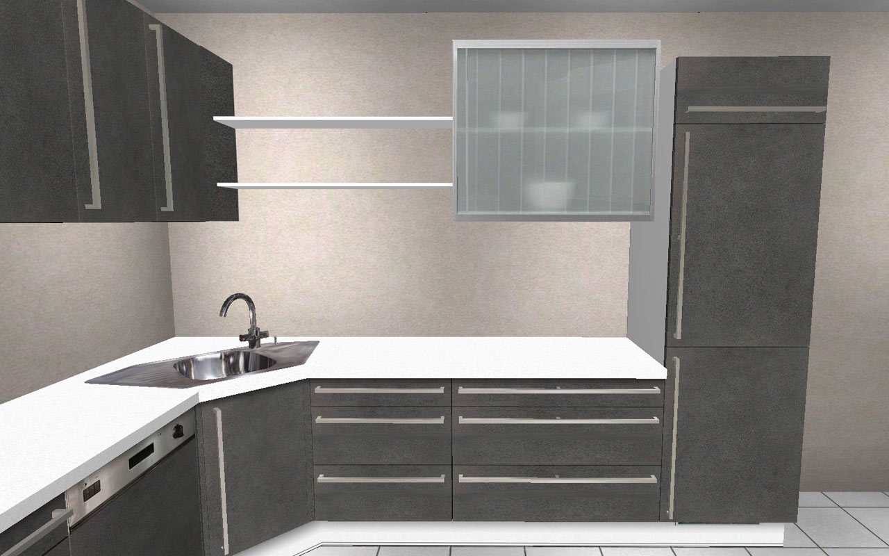 240 x 270 cm hochschrank l k che wellmann alno r ckl ufer in in augsburg ebay. Black Bedroom Furniture Sets. Home Design Ideas