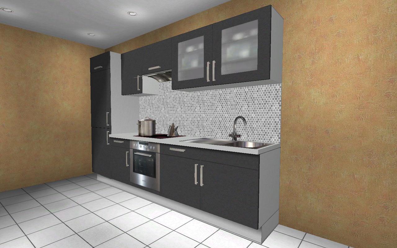 220 cm hochschrank k chenzeile wellmann orig 7028 stornok che alno k che ebay. Black Bedroom Furniture Sets. Home Design Ideas