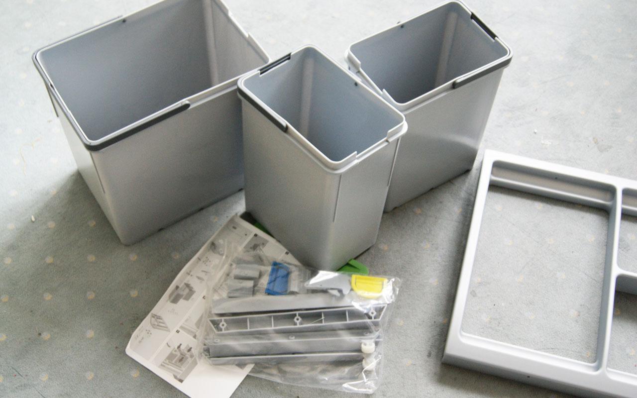 einbau abfallsammler 30 liter 2 mal 10 liter m lleimer f r. Black Bedroom Furniture Sets. Home Design Ideas