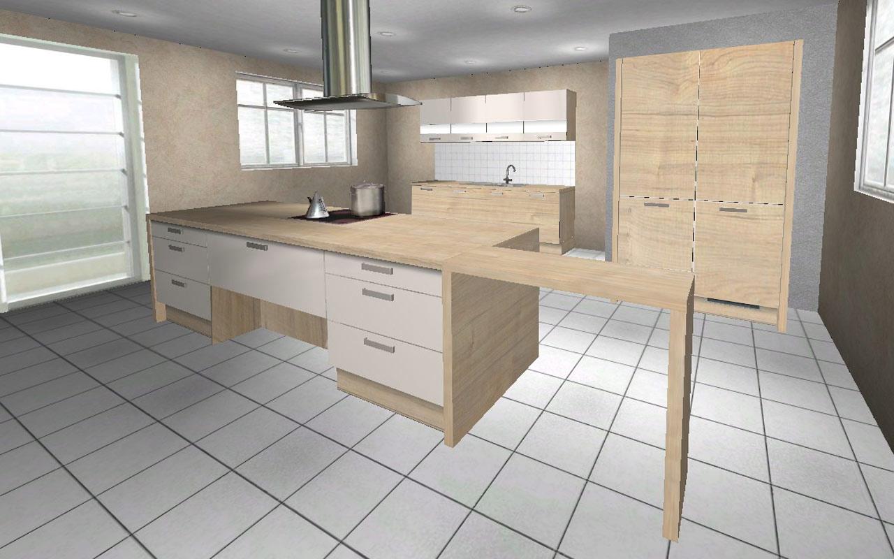 240 cm 120 cm insel 240 x 93 cm wellmann messek che magnolie alno ag k che ebay. Black Bedroom Furniture Sets. Home Design Ideas