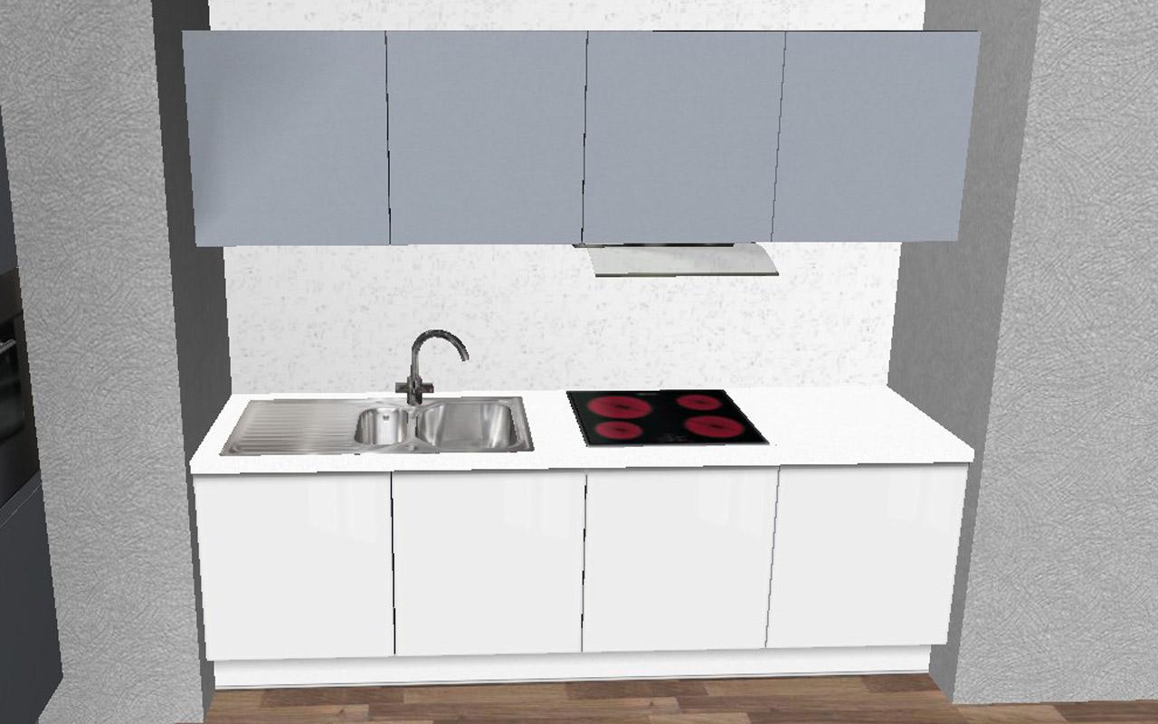 Alno Küchenzeile Gebraucht ~ alno ag l küche + küchenzeile fotoküche weiss blau grifflos orig 11367, neu ebay