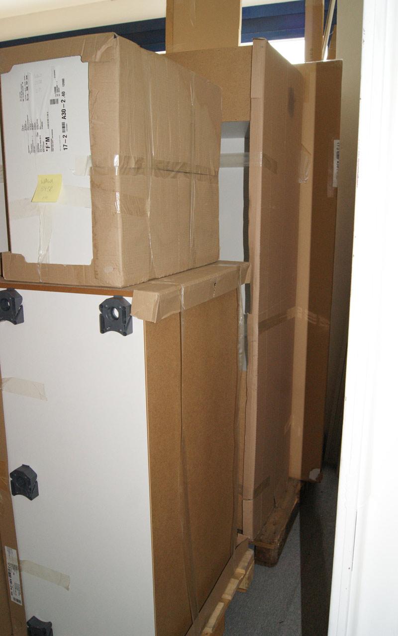 alno ag l k che k chenzeile fotok che weiss blau grifflos orig 11367 neu ebay. Black Bedroom Furniture Sets. Home Design Ideas