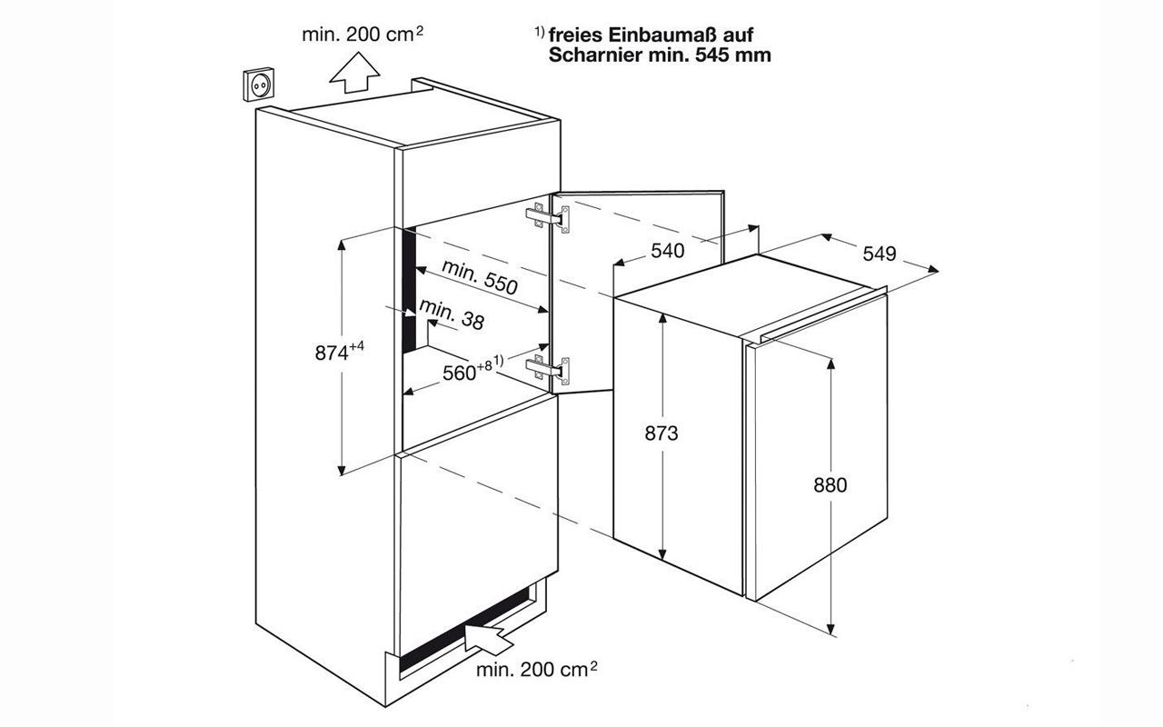 aeg einbau k hlschrank 88cm a schleppt r glas abstellfl chen gem sefach neu ebay. Black Bedroom Furniture Sets. Home Design Ideas