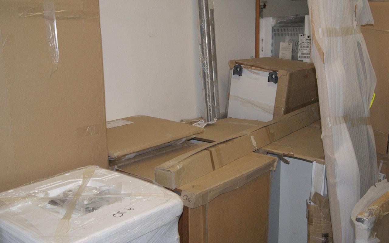 Küche musterküche alno ag messeküche küchen insel weiss lack elektro geräte