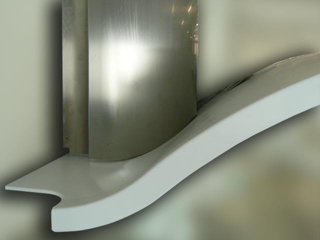 90 cm whirlpool dunstabzug design geschwungen kopffrei dunsthaube edelstahlesse ebay. Black Bedroom Furniture Sets. Home Design Ideas