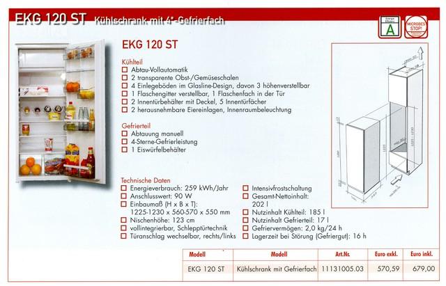 122 cm einbauk hlschrank f r k chen hochschrank k hlger t k hlschrank ebay. Black Bedroom Furniture Sets. Home Design Ideas