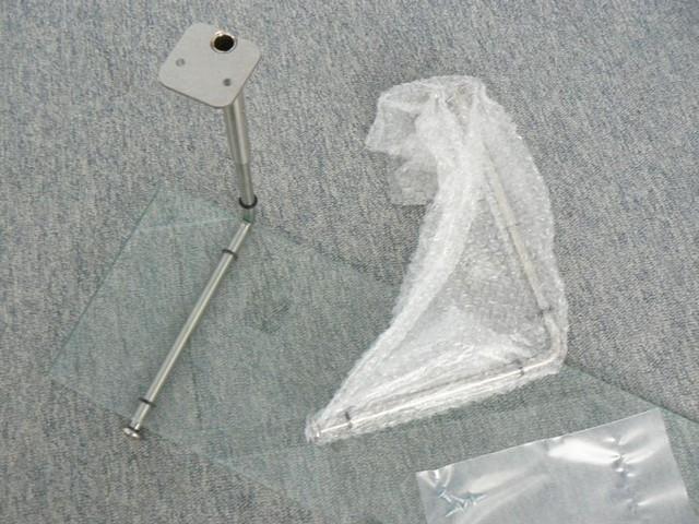 variostar regal glasablage edelstahl glas mit polierter kante 58cm. Black Bedroom Furniture Sets. Home Design Ideas