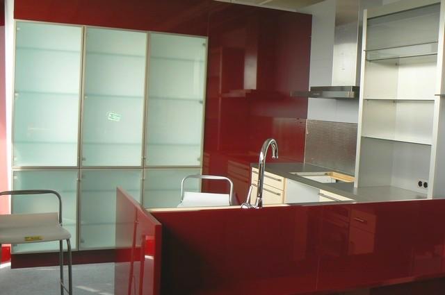 Küche Weinrot : Küche Signia Hochglanzfront Weinrot Siemens ...