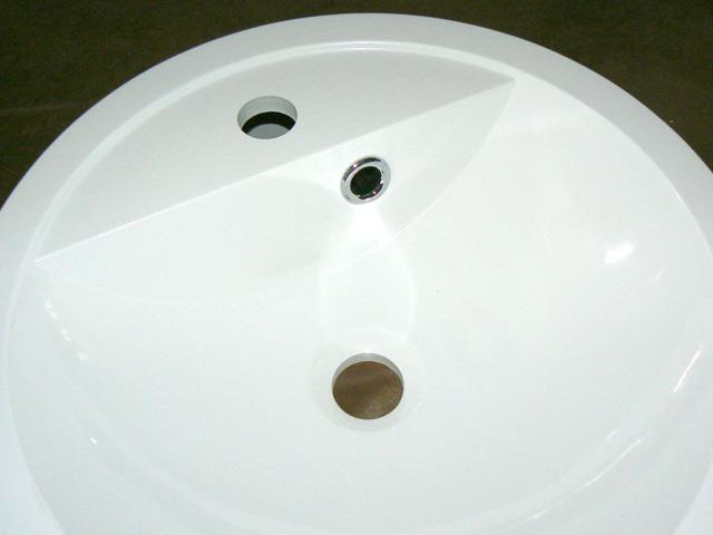 waschtisch bad sp lbecken waschbecken k che sp le rund ebay. Black Bedroom Furniture Sets. Home Design Ideas