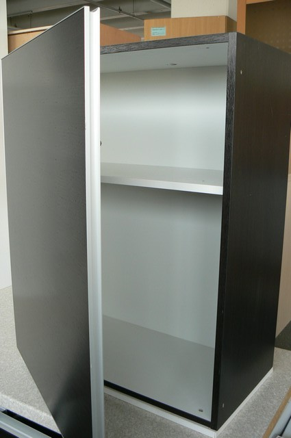 alno k che alnoart prime eiche schwarzbraun grifflos ebay. Black Bedroom Furniture Sets. Home Design Ideas