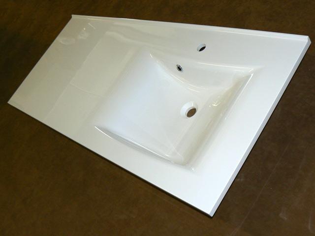 waschtisch becken rechts 141cm breit gro e ablage aufsatz waschbecken apartment ebay. Black Bedroom Furniture Sets. Home Design Ideas