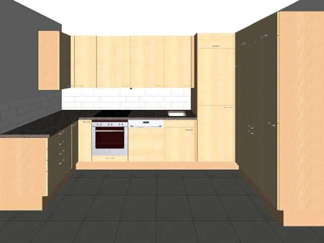 Alno küchen fronten  U-Küche Wellmann ALNO Neu Front Birke begehbarer Schrank Rondell ...