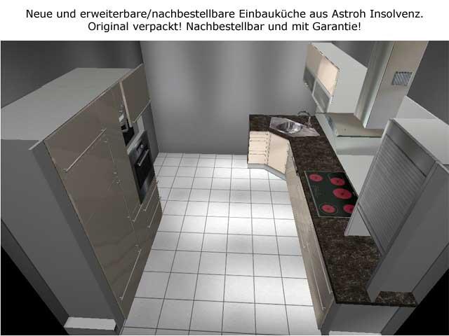 Eck Küche Schubladen Apothekerschrank Orig 9888.- Neue Musterküche