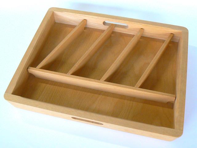 36 5 cm x 44 5 cm besteckeinsatz besteckkasten holz gew rz besteck ebay. Black Bedroom Furniture Sets. Home Design Ideas