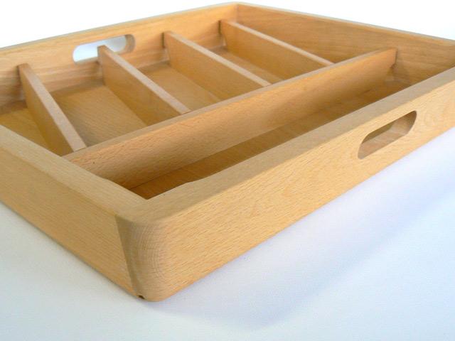 besteckeinsatz holz besteckkasten natur belassen ebay. Black Bedroom Furniture Sets. Home Design Ideas