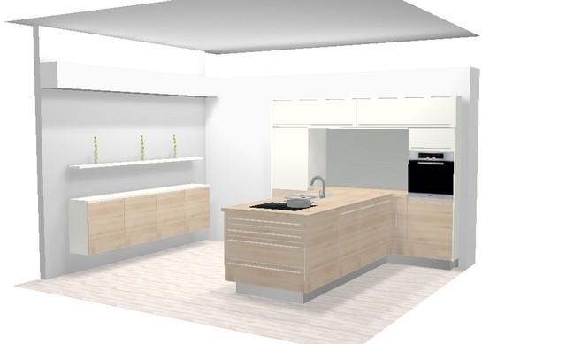 t-küche format hochwertige neue küche frontfarbe esche mountain ... - Esche Küche