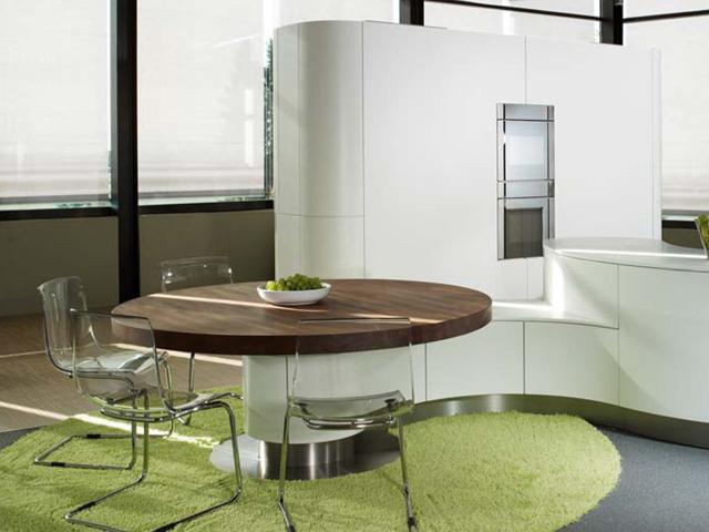insel k che e k front polarwei softlack miele alessi by foster e k rondo rund ebay. Black Bedroom Furniture Sets. Home Design Ideas