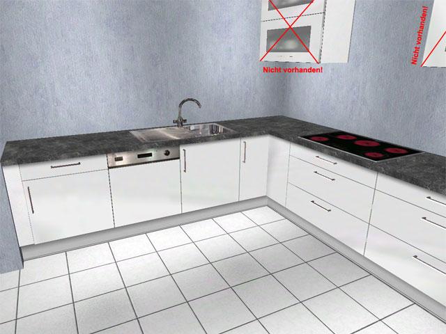 l k che alno ag weiss hochglanz schubladen orig 5386 aus insolvenz ebay. Black Bedroom Furniture Sets. Home Design Ideas
