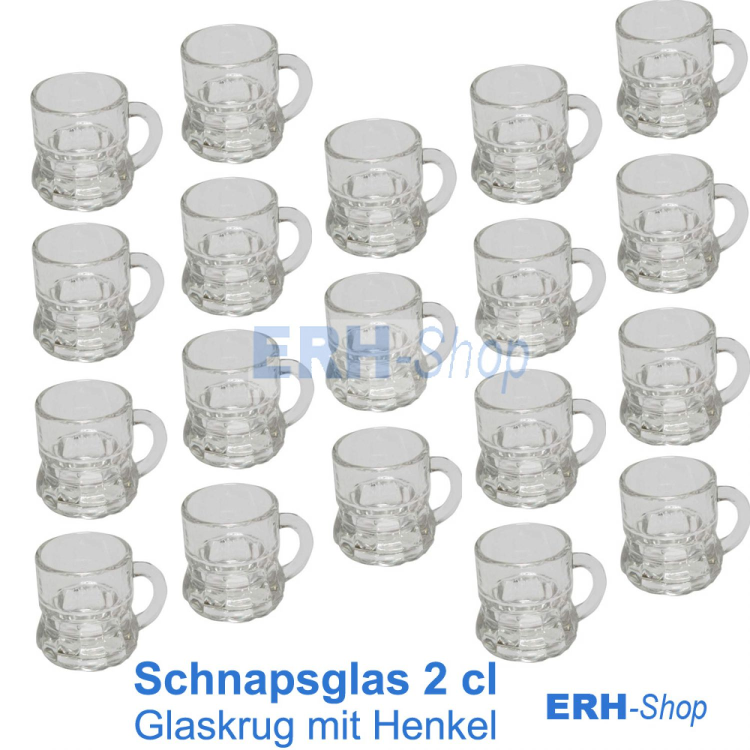 schnapsgl ser 2 cl glas mit henkel 24 st ck karneval geburtstag hochzeit party ebay. Black Bedroom Furniture Sets. Home Design Ideas