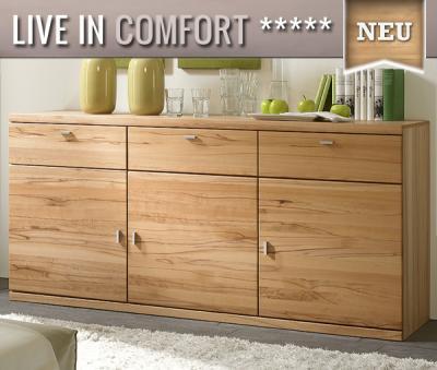top edles sideboard kernbuche massiv montiert kommode. Black Bedroom Furniture Sets. Home Design Ideas