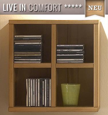top cd dvd wandregal kernbuche ge lt wohnwand regal. Black Bedroom Furniture Sets. Home Design Ideas