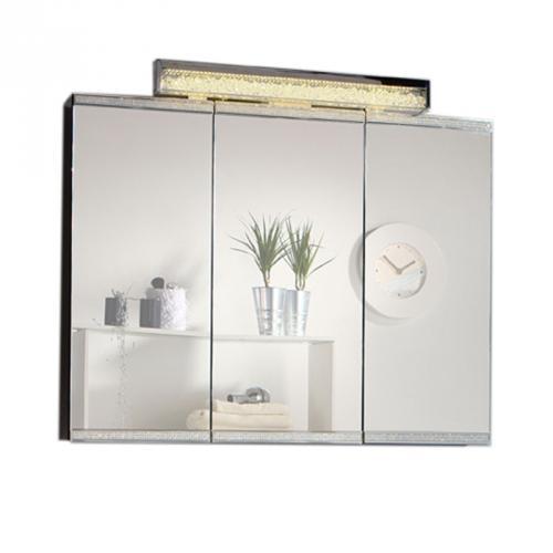 Exklusives badezimmer spiegelschrank hochglanz schwarz led for Bad spiegelschrank schwarz