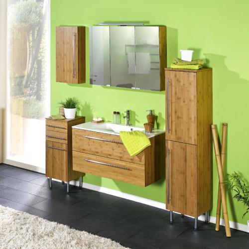 Badezimmer 5 tlg badset bambus massiv waschtisch badm bel - Badezimmermobel bambus ...