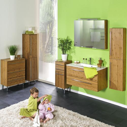 neu badezimmer 7 tlg set bambus massiv led spiegelschrank badm bel waschplatz ebay. Black Bedroom Furniture Sets. Home Design Ideas