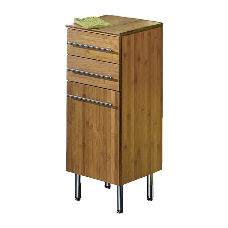 badezimmer unterschrank bambus massiv bad schank badezimmerschrank badm bel ebay. Black Bedroom Furniture Sets. Home Design Ideas