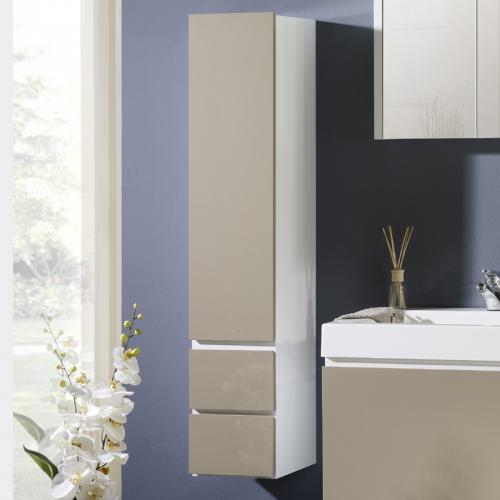 hochschrank hochglanz cappuccino badezimmer badm bel schrank g ste wc badschrank ebay. Black Bedroom Furniture Sets. Home Design Ideas