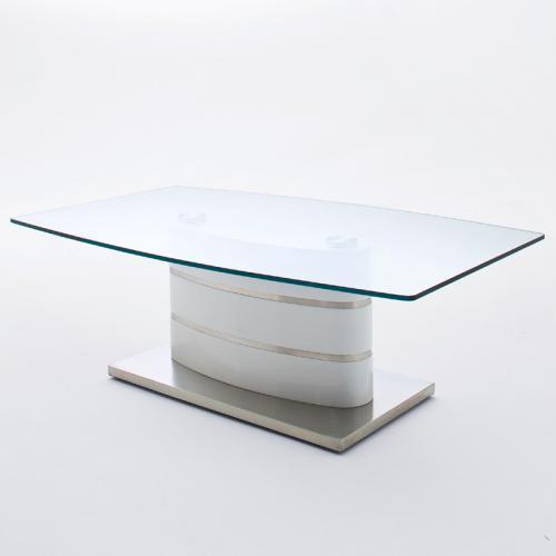 Neu design couchtisch hochglanz wei edelstahl glastisch wohnzimmertisch for Wohnzimmertisch edelstahl