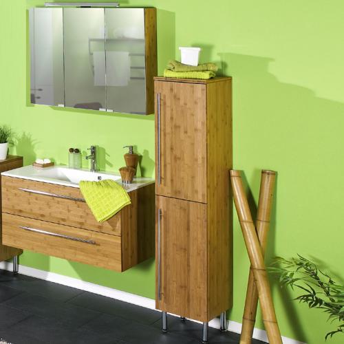 badezimmer 3 tlg bambus massiv seidenmatt waschplatz badm bel g ste wc bad set ebay. Black Bedroom Furniture Sets. Home Design Ideas