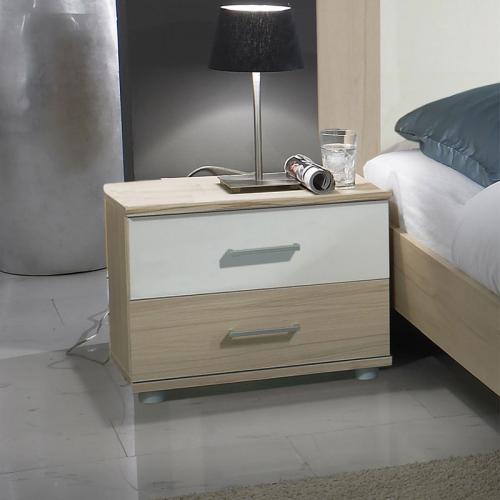 2er set nachtschr nke in canyon buche wei schlafzimmer nachttisch nachtkommode ebay. Black Bedroom Furniture Sets. Home Design Ideas