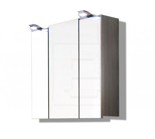 top badm bel led spiegelschrank tr ffel eiche steckdose badezimmer badspiegel ebay. Black Bedroom Furniture Sets. Home Design Ideas