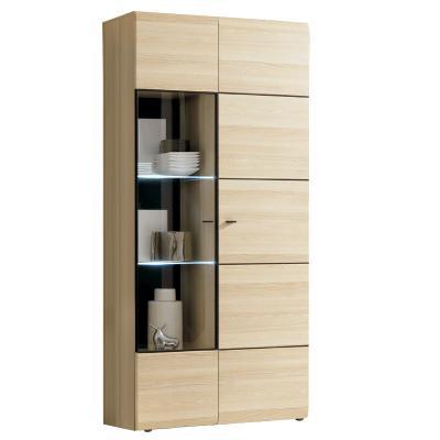 neu standvitrine coimbra esche vitrinenschrank led vitrine esszimmer highboard ebay. Black Bedroom Furniture Sets. Home Design Ideas