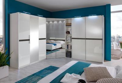 neu eckkleiderschrank hochglanz wei lava schlafzimmer kleiderschrank eckschrank ebay. Black Bedroom Furniture Sets. Home Design Ideas