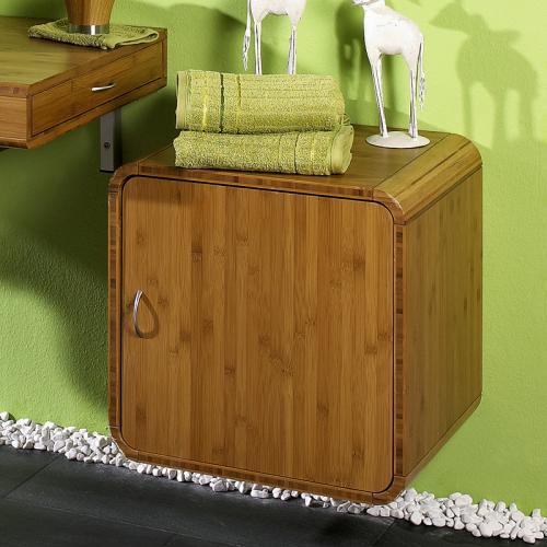 badm bel unterschrank bambus massiv seidenmatt badm bel g ste wc bad ebay. Black Bedroom Furniture Sets. Home Design Ideas