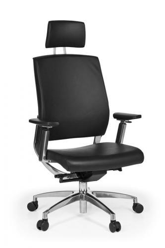 neu b ro drehstuhl b rostuhl echt leder schwarz schreibtischstuhl chefsessel ebay. Black Bedroom Furniture Sets. Home Design Ideas