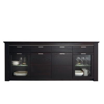 neu 232cm sideboard landhausstil esche schwarzbraun. Black Bedroom Furniture Sets. Home Design Ideas