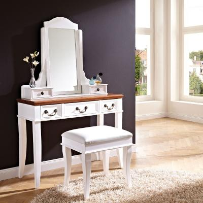 top 2 tlg schminktisch set hocker lack weiss spegel. Black Bedroom Furniture Sets. Home Design Ideas